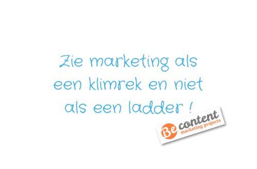Zie marketing als een klimrek