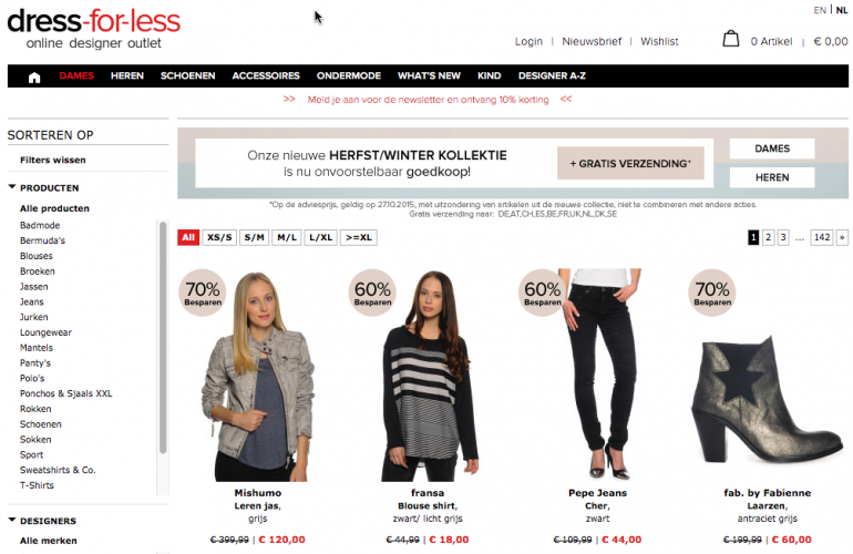 webshop dress for less